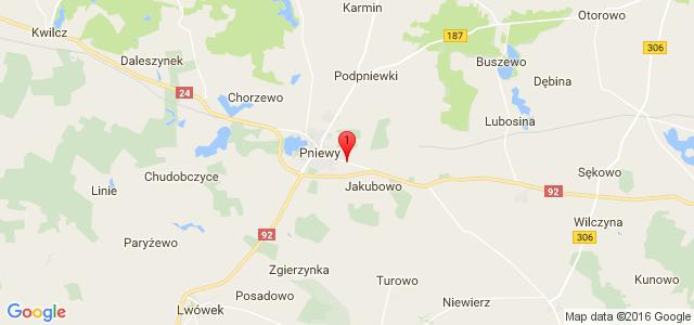 Google Map of 62-045 Pniewy, ul. Poznańska 62